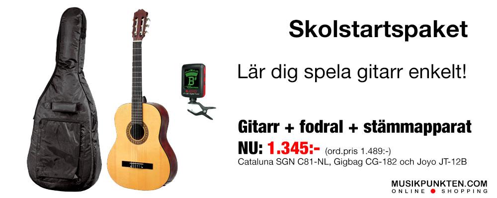 Musikpunkten.com Skolstartspaket gitarr